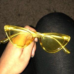 Yellow Translucent Sunglasses